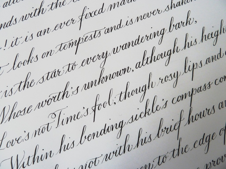 Copperplate Calligraphy Calligraphy Texts Pinterest