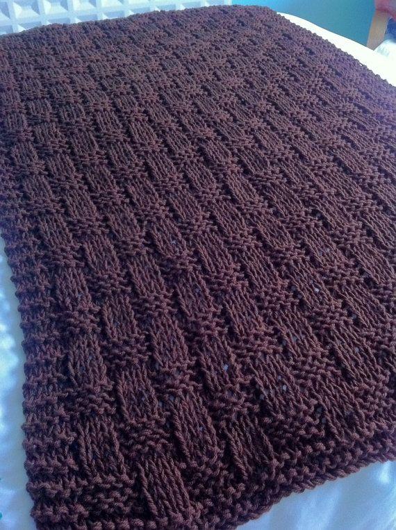 Knitting pattern- Chunky Basket Weave Blanket / Sofa Throw