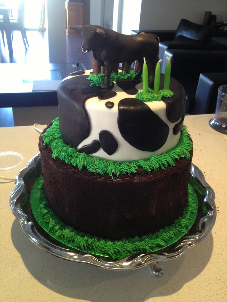 Cow cake Madison s 16th Birthday ideas Pinterest