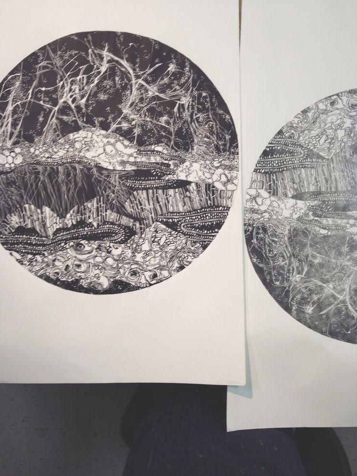 Linoleum carving printing pinterest