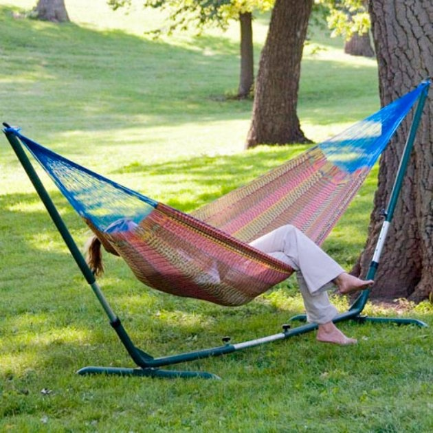 Backyard Hammock Setup :  hammock I got years ago from Costa Rica and am itching to set up on