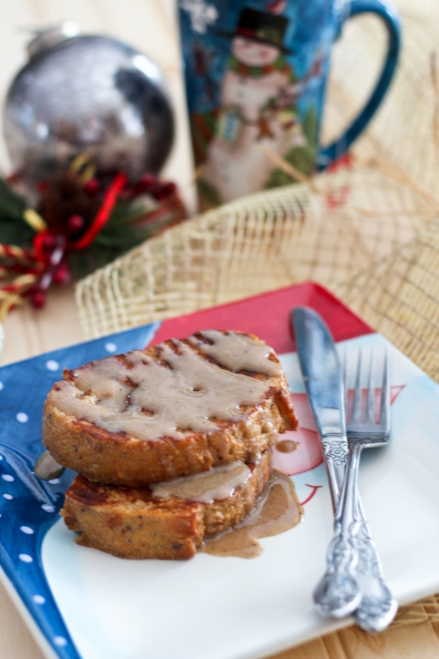 Healthy Eggnog French Toasts [with an optional kick!]   Recipe