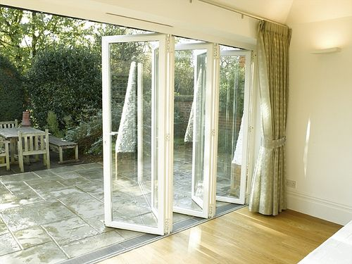 Bi Fold Glass Door Put On The Back Wall Opens Up The