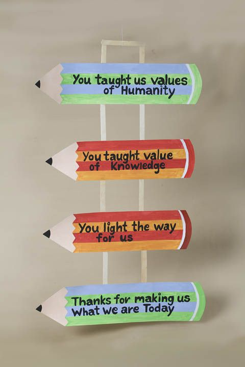 Arts and Crafts Ideas for Teachers Day