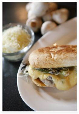 Spicy Mushroom Torta with Queso Quesadilla | Recipe