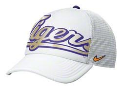 LSU Tigers Women's White Nike Vault Retro Logo Mesh Snap Back Hat  http://www.fansedge.com/LSU-Tigers-Womens-White-Nike-Vault-Retro-Logo-Mesh-Snap-Back-Hat-_-1425924435_PD.html?social=pinterest_pfid22-04389