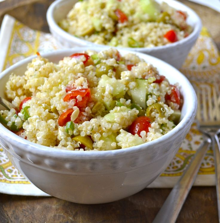 Greek Quinoa Salad | Eat yourself Skinny | Pinterest