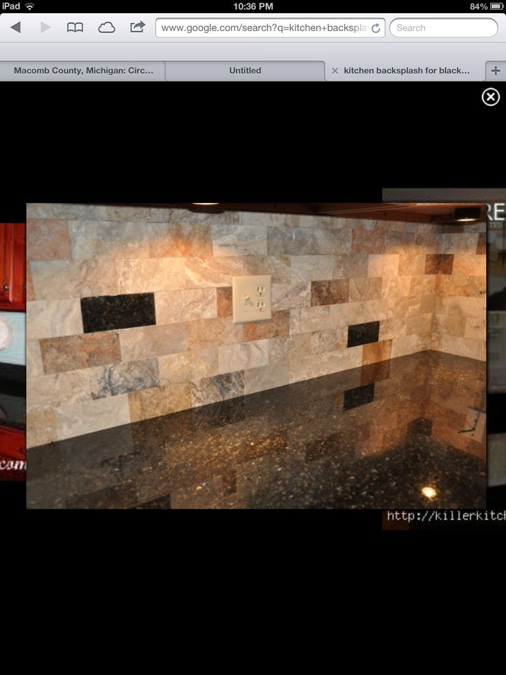 backsplash with black granite remodeling pinterest