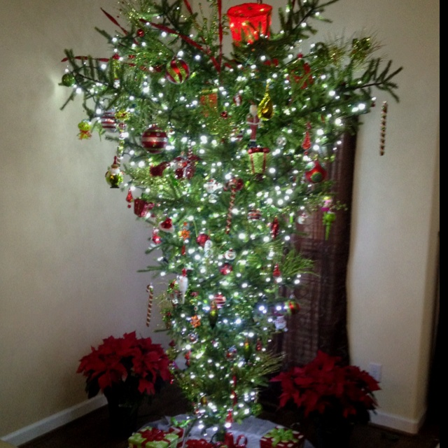 Upside Down Christmas Tree Christmas Stuff Pinterest
