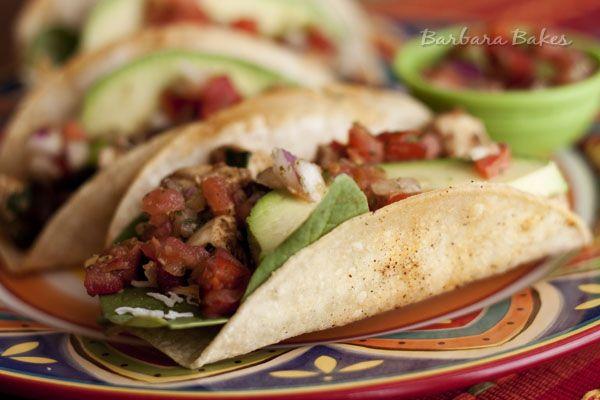 Chicken and Black Bean Tacos - corn tortillas