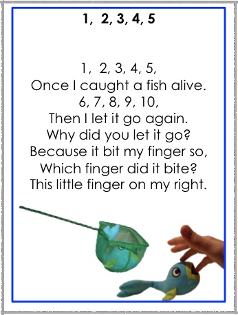 1 2 3 4 5 once i caught a fish alive preschool songs for Once i caught a fish alive
