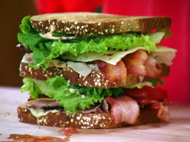 Sardine, Sun-Dried Tomato, And Bacon Club Sandwich Recipe — Dishmaps