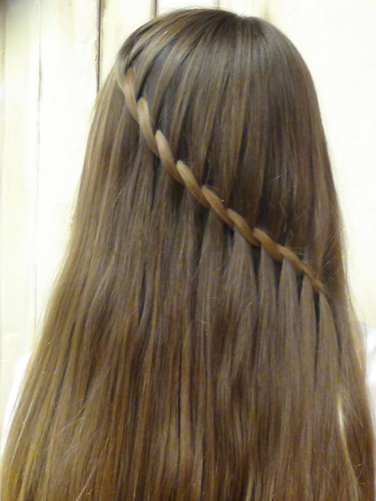 Waterfall braid hairstyle | ideas | Pinterest