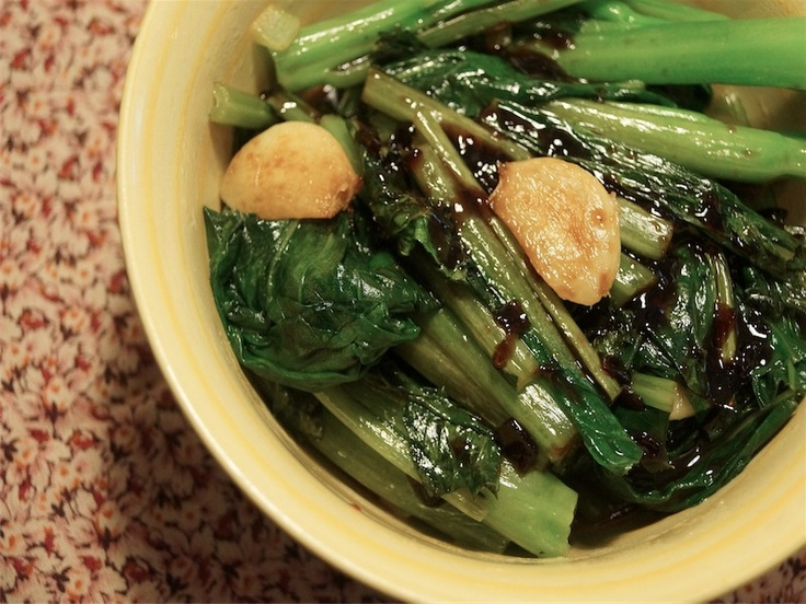 Chinese Broccoli with Garlic and Miso, 2 weight watchers points plus ...