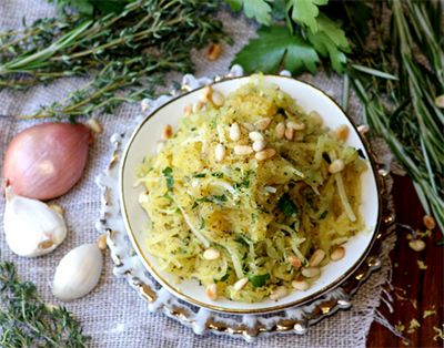 ... Healthy Spaghetti Squash Recipes: Roasted Spaghetti Squash with Herbs