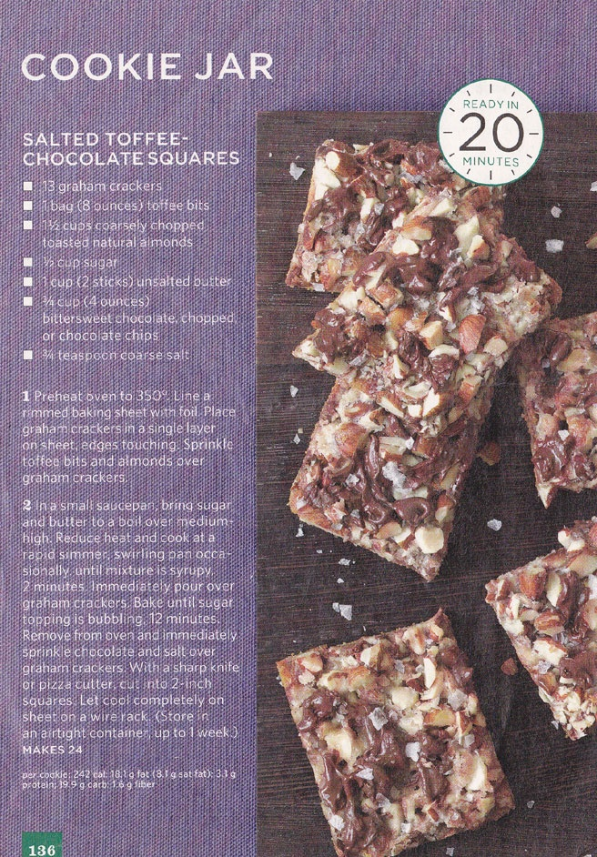 Salted toffee chocolate squares | Recipes | Pinterest