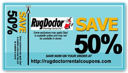 Rug doctor rental coupons discounts