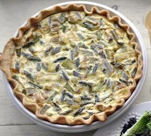 Asparagus, Leek and Gruyère Quiche | Recipe