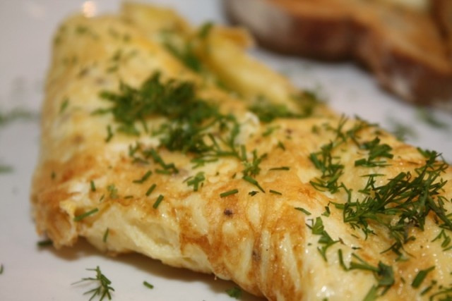 Herb Omelette | I Like to Eat | Pinterest