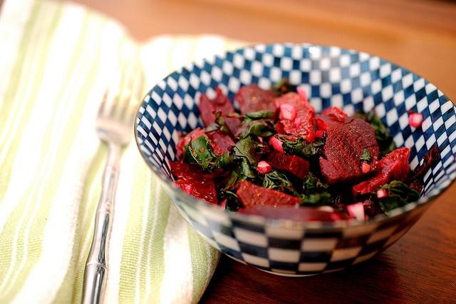 Roasted Beet Salad with Oranges & Beet Greens
