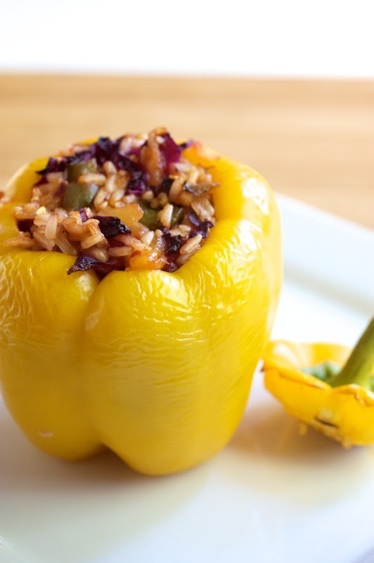 Sweet and Sour Stuffed Pepper (vegetarian stuffed pepper with a spicy ...