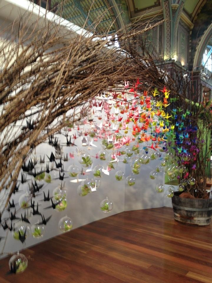 1000 cranes art pinterest