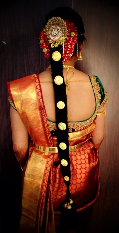 South Indian Bride | Bridal Hairstyle | Wedding And Reception | Pinterest