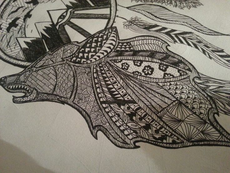 Zentangle Wolf Images amp Pictures Becuo