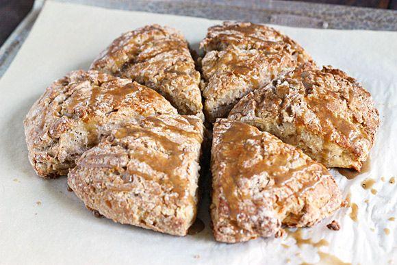 Roasted Banana Bread Scones - SoupAddict.com