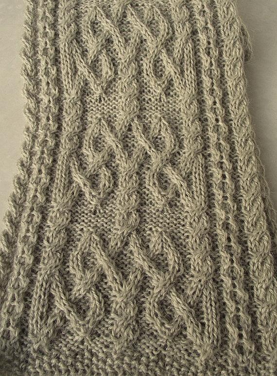 Celtic scarf More knitting inspirations Pinterest