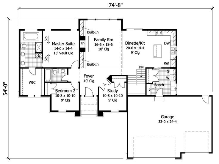 House plans very open concept move garage behind the for House plans with mud rooms