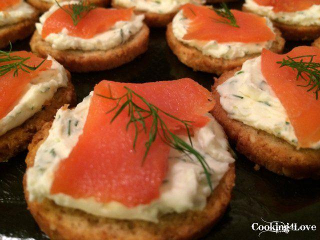 Smoked Salmon Crostini | All Things Food! | Pinterest