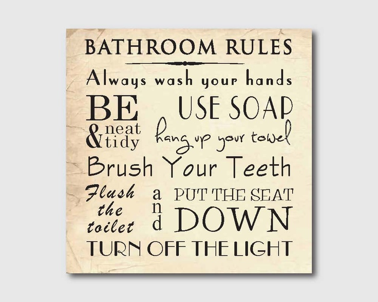 Pin by claire dodson on home pinterest for Bathroom etiquette