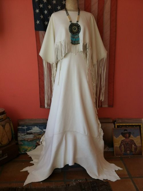 Marry me buckskin dress native american clothes pinterest for Marry me wedding dresses