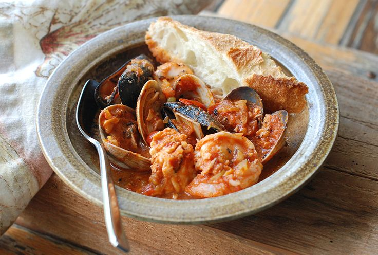 Italian-American Fish Stew By Andrew Zimmern This version of cioppino ...