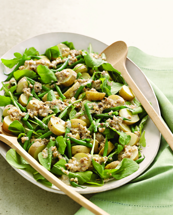 Arugula, Potato, and Green Bean Salad with Walnut Dressing from ...