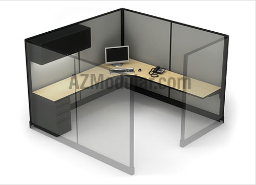 Office cubicles 8x8 high panel configuration visit http for 8x8 office design
