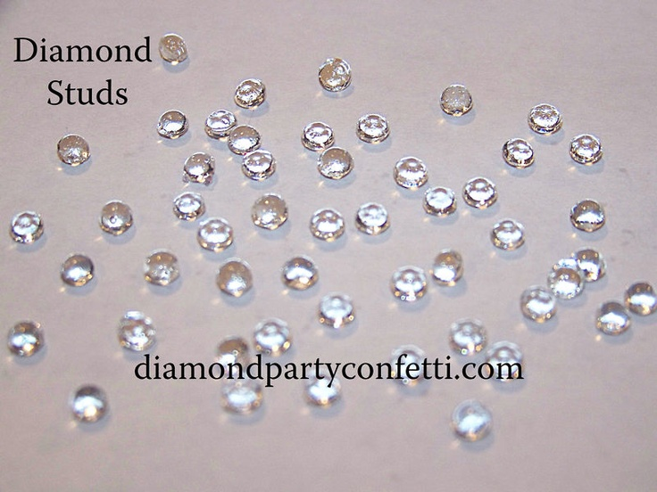 Edible Cake Decorations Diamonds : 4mm EDIBLE DIAMOND STUDS Wedding Cake Sugar Decoration