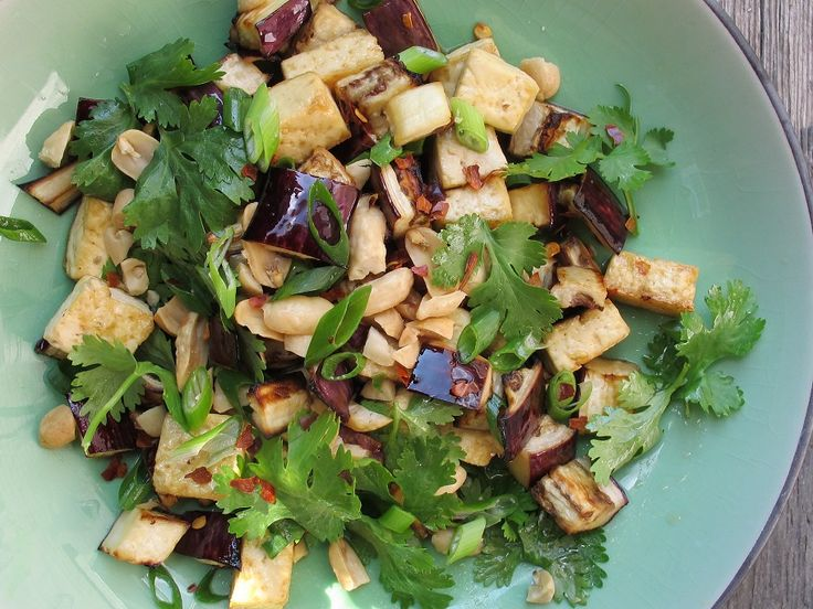 Sesame Citrus Broiled Eggplant and Tofu | Non-Meat Dishes | Pinterest