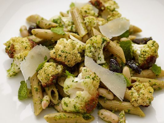 with Roasted Cauliflower and Parsley Pesto - with kalamata olives ...