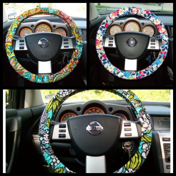 Vera Bradley steering wheel covers.