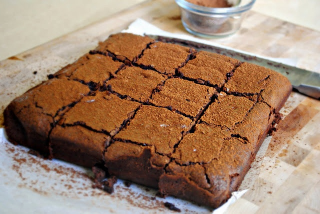 Spicy Chocolate-Cayenne Truffle Brownies | sweet eats. | Pinterest