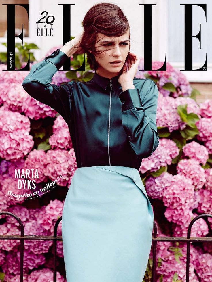 #MartaDyks by #PaulFarrell for the cover of #EllePoland November 2014