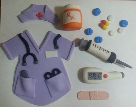 Medical Cake Toppers by EdibleAccents on Etsy, $25.00
