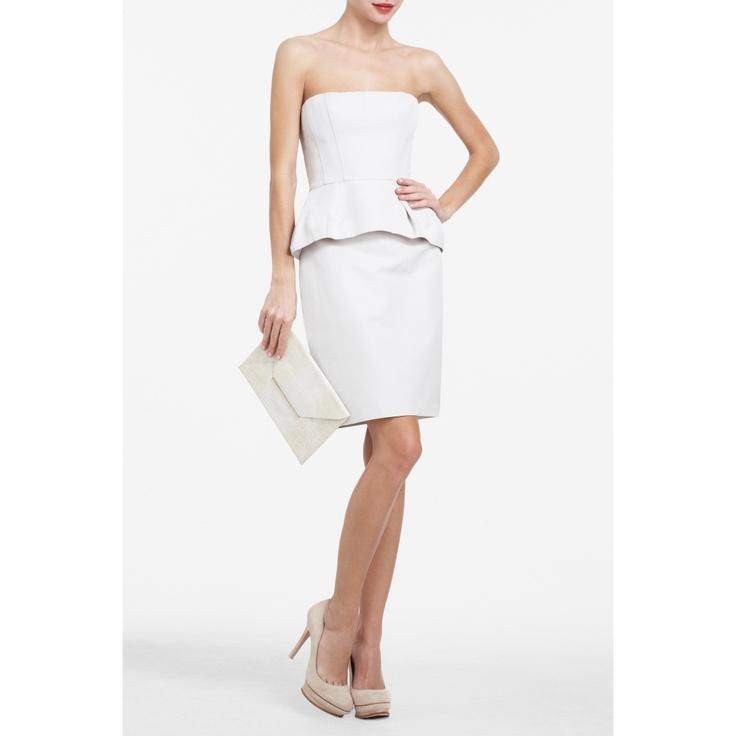 Peplum and white dress.