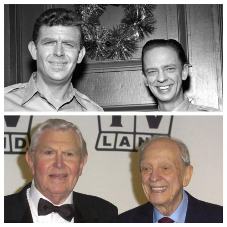 From the Andy Griffith show Andy Griffith and Don Knotts now and then ...