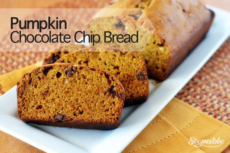 Pumpkin Chocolate Chip Bread #stepable