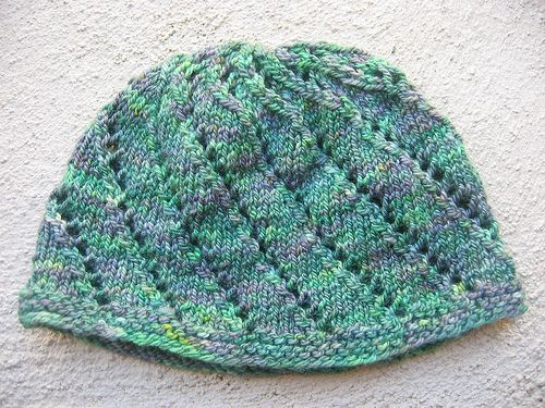 Free Knitting Patterns For Lace Hats : simple lace hat knitting pattern knitting Pinterest