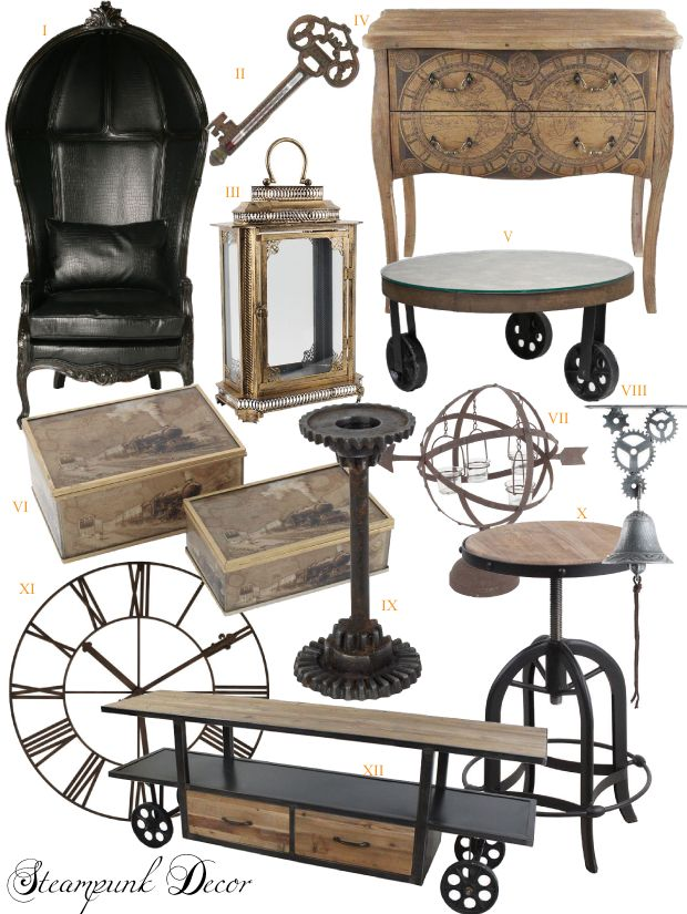 Steampunk Decor Living Room Makeover Pinterest