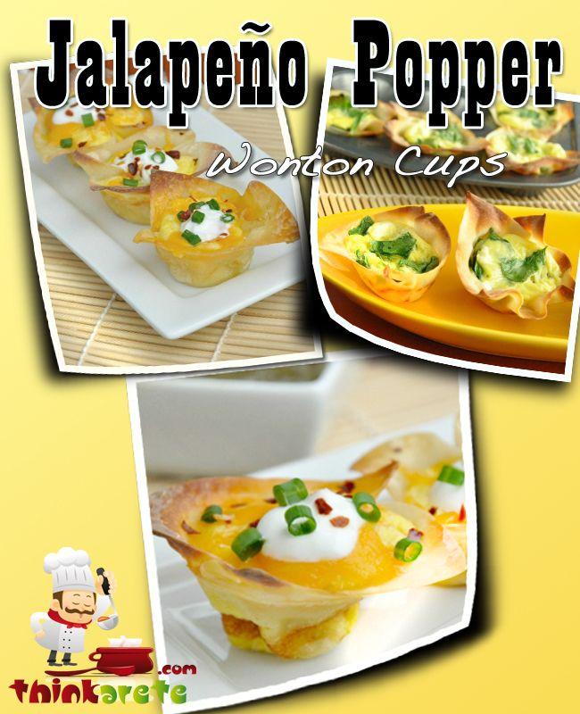 MMM JUMMM Jalapeño Popper Jalapeño Popper Wonton Cups Full Recipe ...